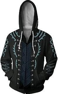 MeiMei Devil May Cry Cosplay Dante Vergil 3D Printed Hoodie Sweatshirt Zipper Costume