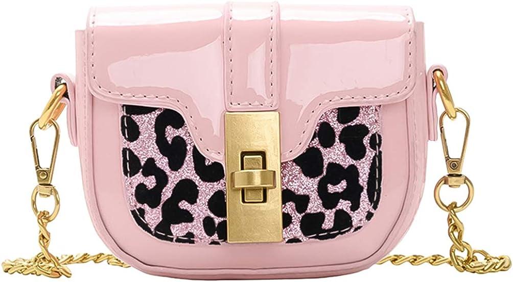 KESYOO Crossbody Shoulder Bag for Kids GirlsChain Strap Purse Leather Handbag Wristlet Clutch Bag