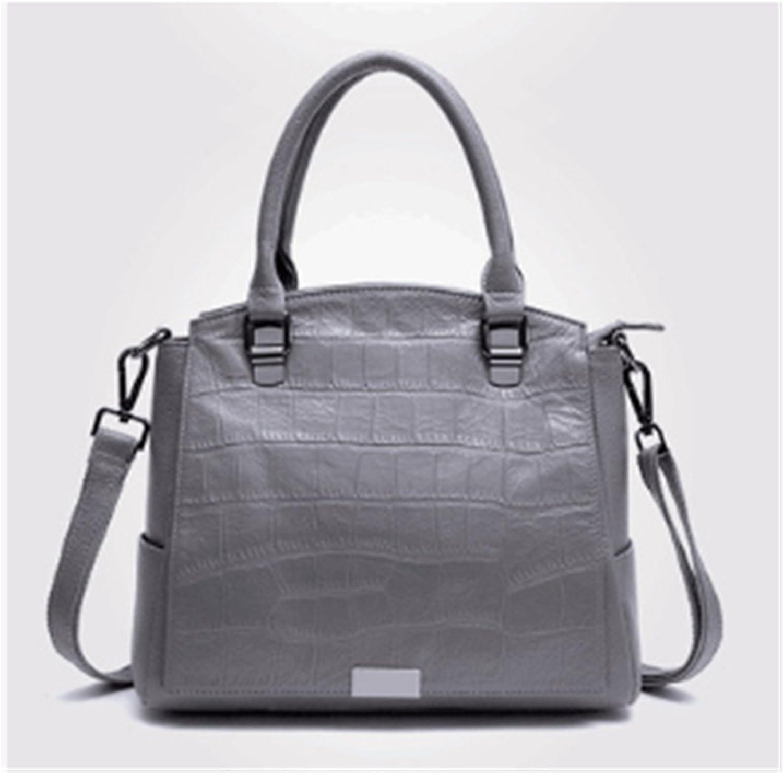 AIBOOY Frau Krokodil Muster Handtasche Leder Umhngetasche Mode Diagonale Ledertasche damen Fashion