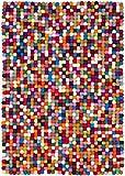 3 myfelt Filzkugelteppich Lotte - 50x70 cm…