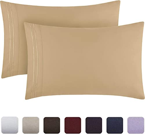 Mellanni Luxury Pillowcase Set - Brushed Microfiber 1800 Bedding - Wrinkle, Fade, Stain Resistant - Hypoallergenic (S...