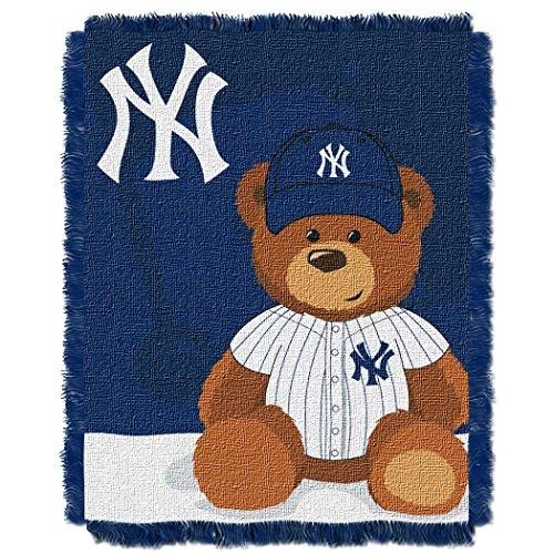 MLB New York Yankees Baby Woven Jacquard Throw Blanket, 36