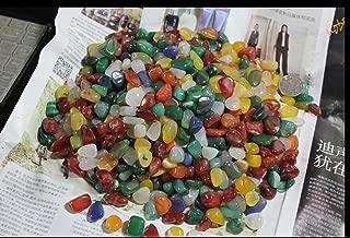カラー雨花石 水槽の飾り石 盆栽の店頭に石 天然の小石 (500g)
