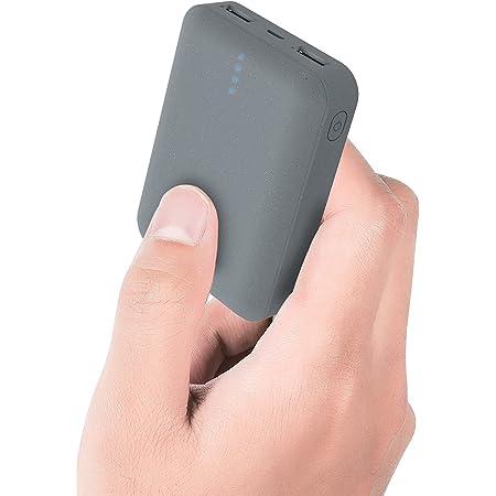 ockred Batería Externa Power Bank 10000Mah, Cargador Portátil Móvil con 2 Puertos Salidas USB Alta Velocidad y LED, Compatible con, Phone,Samsung Galaxy, Huawei Y Otros Smartphones