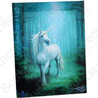 Small Forest Unicorn Canvas Picture By Anne Stokes