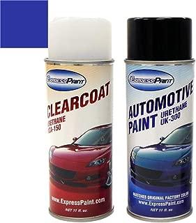 ExpressPaint Aerosol - Automotive Touch-up Paint for Porsche 918 Spyder - Sapphire Blue Metallic M5J - Color + Clearcoat Package