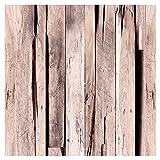 murando Vlies Tapete Deko Panel Fototapete Wanddeko 10 m Tapetenrolle Mustertapete Wandtapete modern design Dekoration - Holz Bretter f-C-0363-j-a