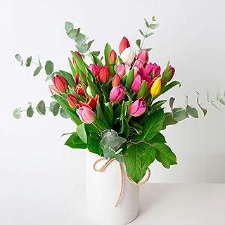 Ramo de tulipanes Burgos - Flores RECIÉN CORTADOS y NATURALES de Gran Tamaño - ENTREGA EN 24h con Dedicatoria Personalizab...