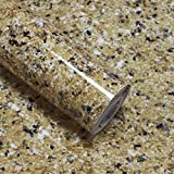 Timeet Granite Contact Paper Granite Brown 17.7' x 78.7' Self Adhesive Film Granite Contact Paper for Countertops Waterproof Contact Paper Easy to Clean Thick Upgrade Vinyl Roll