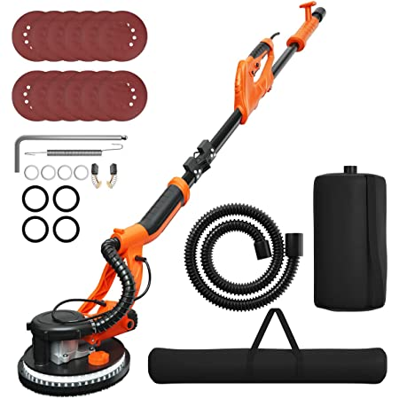 Drywall Sander 750W Folding Handle Variable Speed Sanding Pad Vacuum System