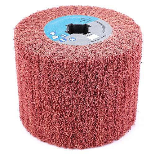 Polijstwiel, Draadtrekken Polijsten Polijstwiel 80# voor schuurspons, Geschikt voor soorten oppervlakken, zoals metaal, hout, gebogen