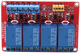 Scheda relè, modulo relè Keenso a 4 canali con scheda di espansione trigger a basso livello per optoaccoppiatore per Ardui...