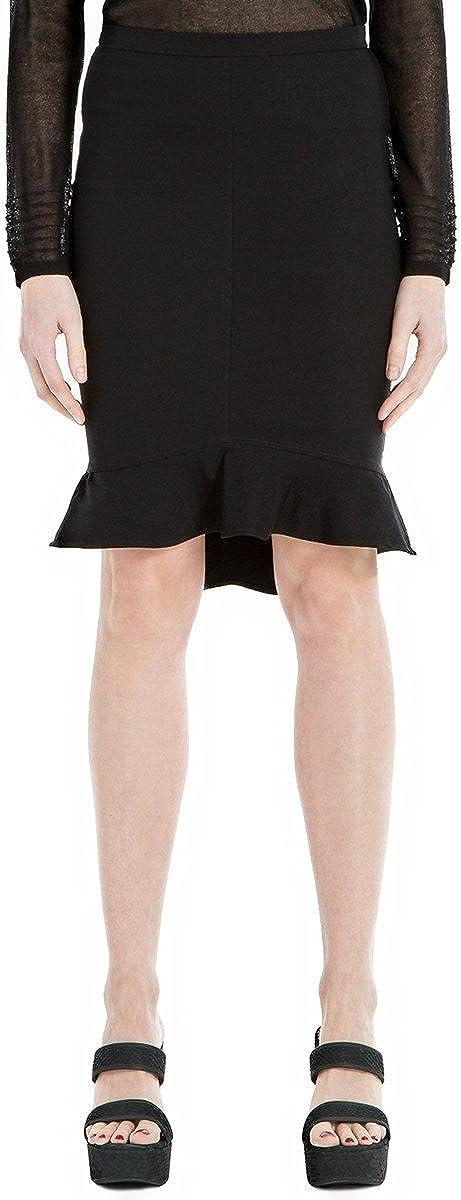 Max Studio London Womens Flounce Pencil Skirt