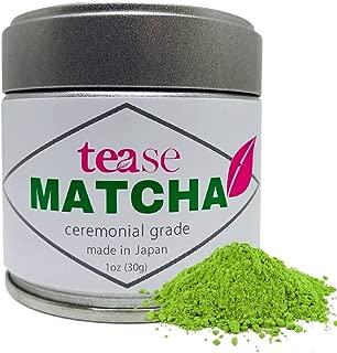 Tease Tea Organic Matcha Tea – Weight Loss, Antioxidant, Natural Caffeine Boost Tea – 1 Ounce (30g)