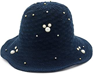Lei Zhang Hat Spring Summer Day Korean Style Ladies Sun hat caps Collapsible Fisherman hat Outdoor Travel Beach hat (Color : Tibetan Blue, Size : 56-58cm)