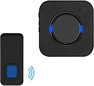 Mopoq Waterproof Wireless Doorbell With 1 Receiver And 1 984.3 Ft Push Button, 5-volume Electric Doorbell