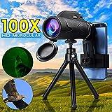 JSX 80X100 Profesional Telescopio Monocular Potente para Móvil Militar Ocular Portátiles Lente Objetivo Caza Óptica