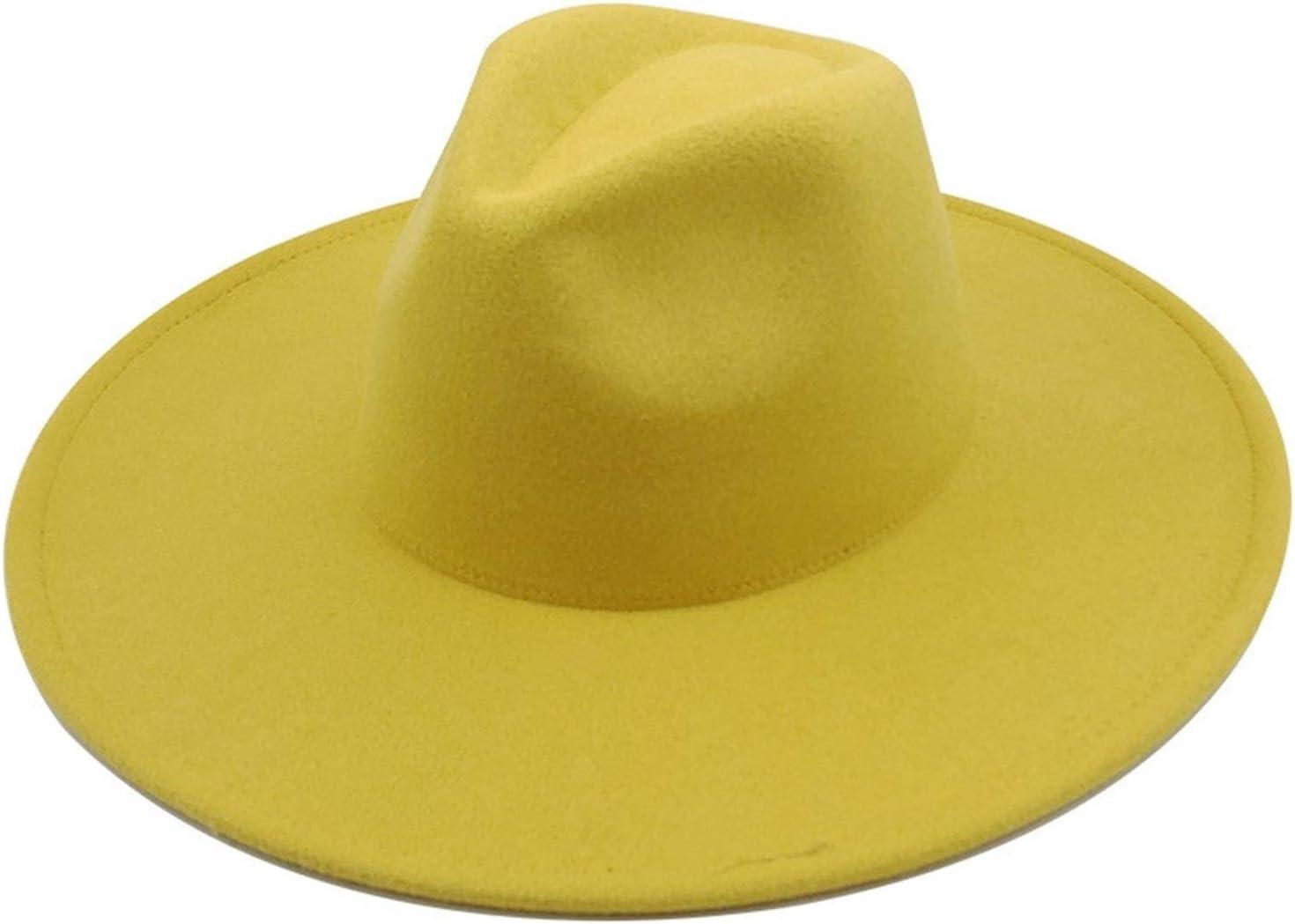 JBIVWW KJACR Classical Wide Brim Fedora Hat Black White Hats Men Women Crushable Winter Hat Derby Wedding Church Jazz Hats (Color : 12, Size : 56 58cm)