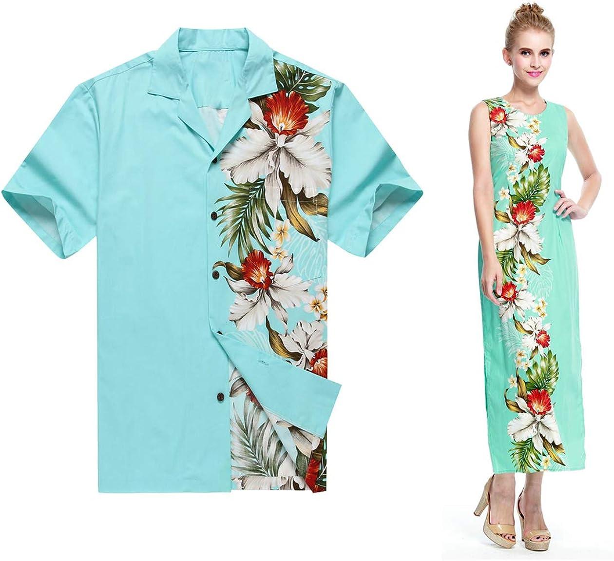 Made in Hawaii Couple Matching Luau Maxi Fixed price for sale Aloha Tank Limited price Dress Shirt