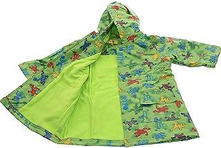 Pluie Pluie Boys Outerwear Green Frog印刷裏地付きレインコート12?M - 8