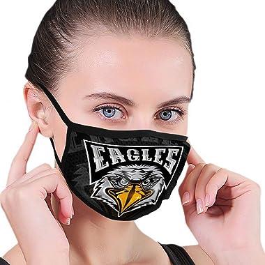 nsnabawanan Washable Reusable Ski Cycling Cover Cover Unisex Bird Head Logo Any Sport Team Eagles Dark Bird Elastic Cover