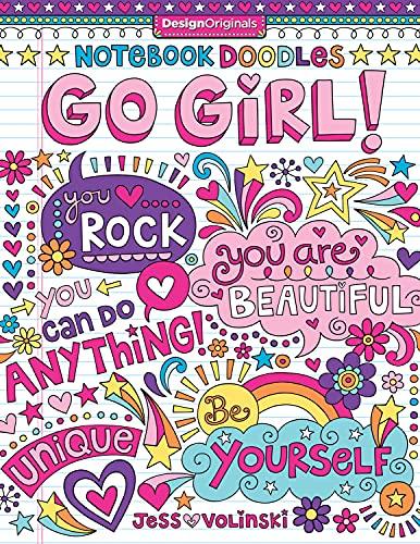 Notebook Doodles Go Girl!: Coloring & Activity Book (Design Originals) 30...