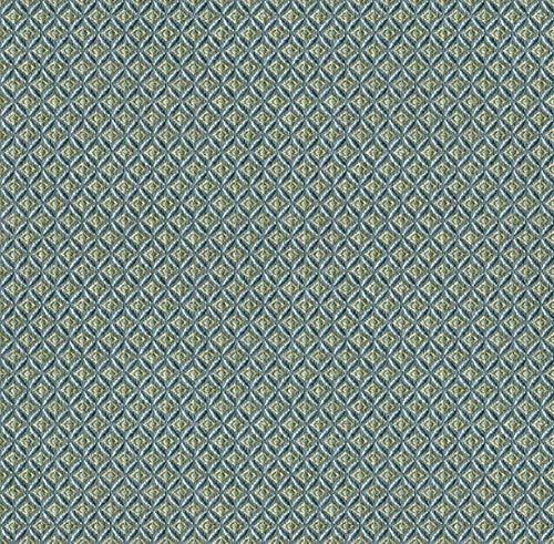Saum & Viebahn GmbH & Co. KG Möbelstoff Venezia Muster Abstrakt Farbe blau als Robuster Bezugsstoff, Polsterstoff Gemustert zum Nähen und Beziehen, Fleckschutz, Polyester