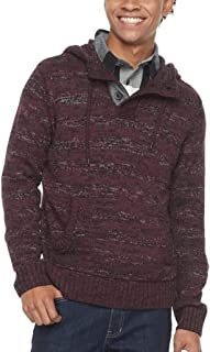 Men's Hooded Henley Sweater
