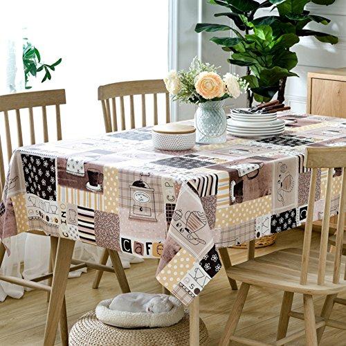 DFSZBDN PVC tafelkleed, geruit, tafelkleed, voor eetkamer, keukentafel, doek, vintage vierkant, tafelkleed 120x170cm(47x67inch) C