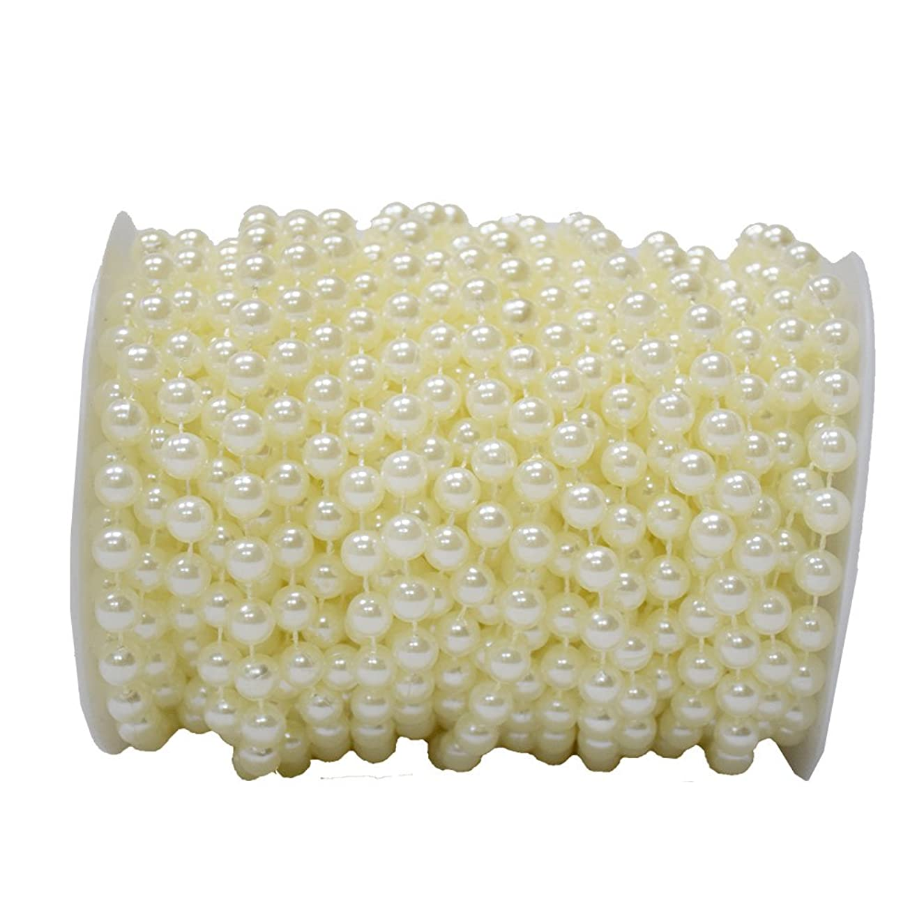 BoJia 10 mm Large Ivory Pearls Faux Crystal Beads by The Roll for Flowers Wedding Party Decoration