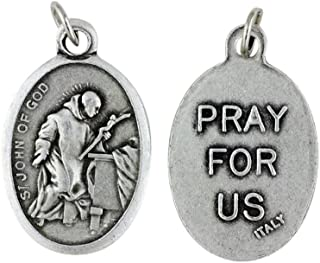 Saint John of God Patron of Those with Heart Disease Silver Oxidized Medal Blessed by His Holiness
