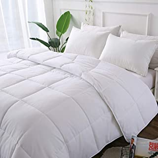 Decroom White Comforter,Down Alternative Quilted Duvet Insert,Moisture-Wicking Treament,Light Weight and Soft for All Season Twin Size
