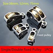 Swivel Pulley,Mini Metal Fixed Pulley Sheave Rigging Lift Hoist Rope Lifting Wheel(Single Pulley 75MM)