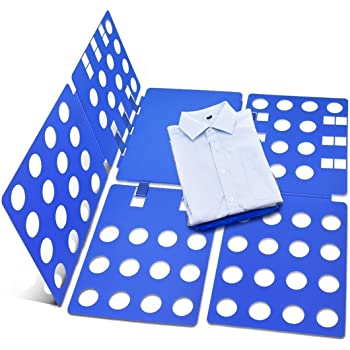 FunRun Doblador de Ropa, para Adulto o Infantil Camisas Camisetas Pantalones Toallas Polo, Azul (59 x 70 cm): Amazon.es: Electrónica