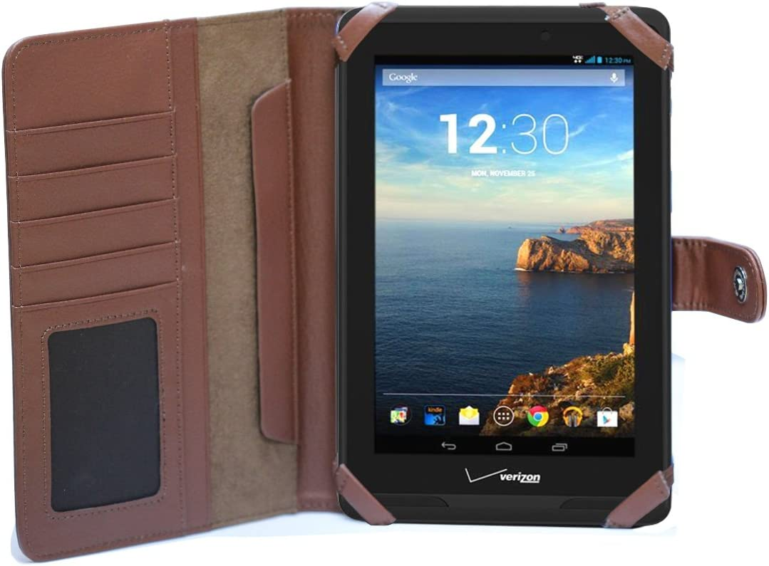 MiTab Brown Verizon Ellipsis Tablet 7 Cover Case Book Inexpensive Max 54% OFF Style MV7A