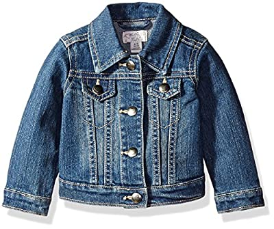 The Children's Place Baby Girls' Denim Jacket, China Blue 6065, 18-24 Months