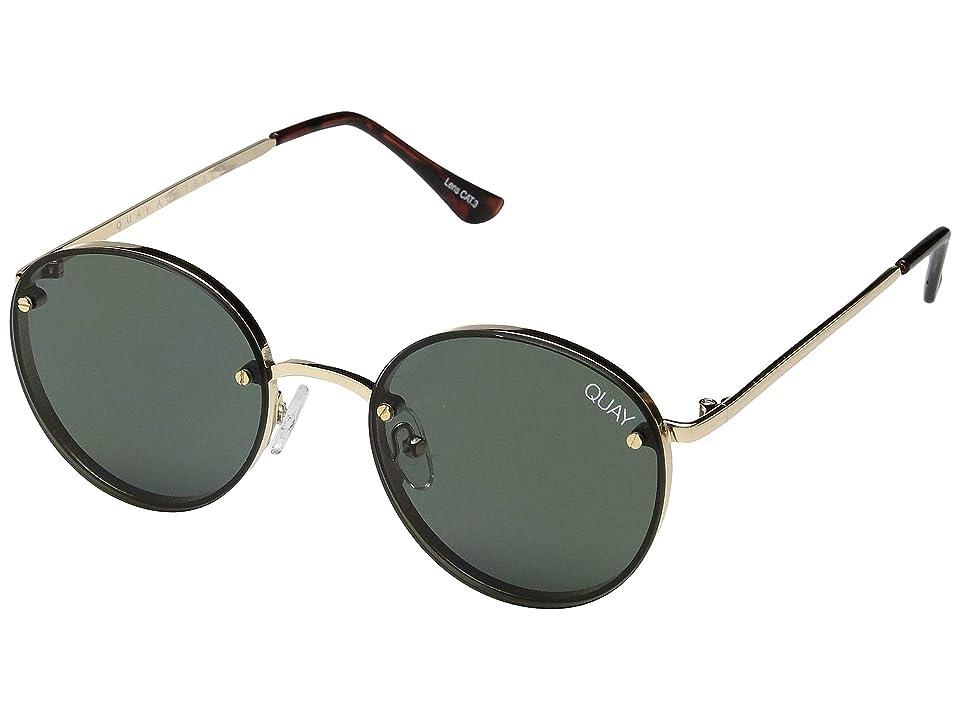 QUAY AUSTRALIA Farrah (Gold/Green) Fashion Sunglasses