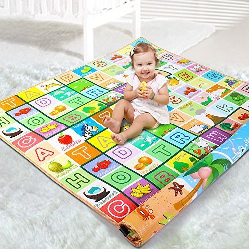 Owme Baby's Double Sided Water Proof Mat Carpet (Colour and Print May Vary, 6 X 5 feet)