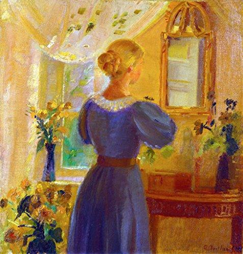 Interieur Anna Ancher Kunstkarte Postcard Art