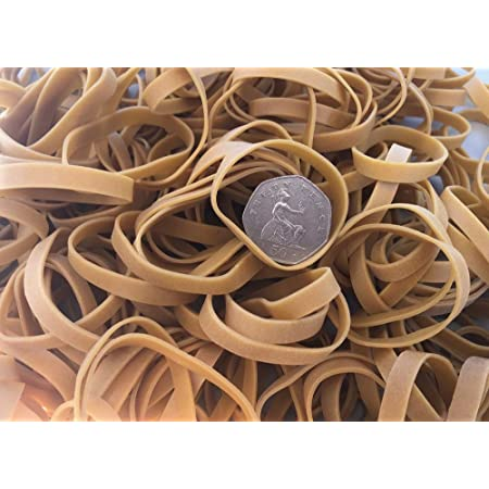 Q-Connect Elastic Rubber Bands 1000 Gr Number 7 70 x 2 mm