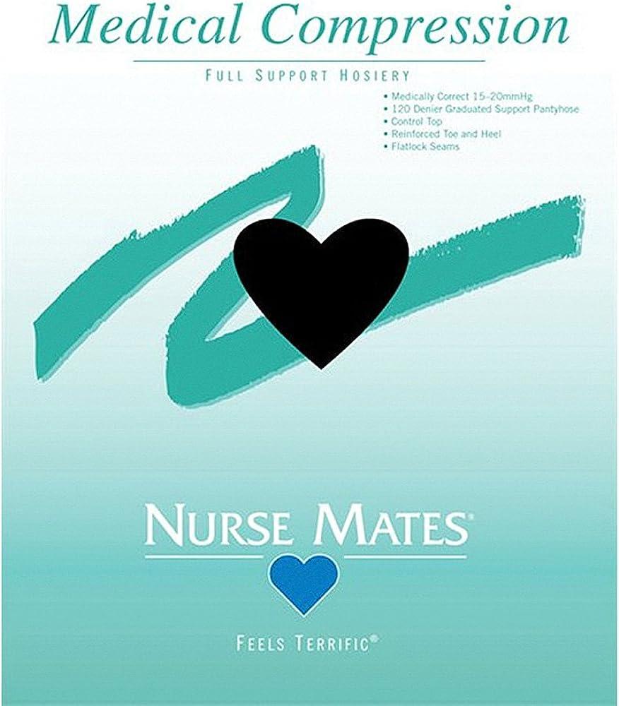 Nurse Mates Support Black Pantyhose