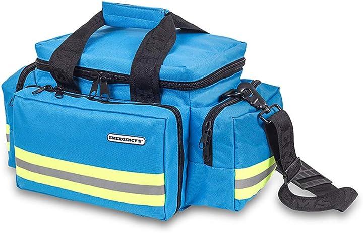 Borsa per emergenze elite bags leggera e resistente riflettente con tasche multiple colore: celeste EM13.032