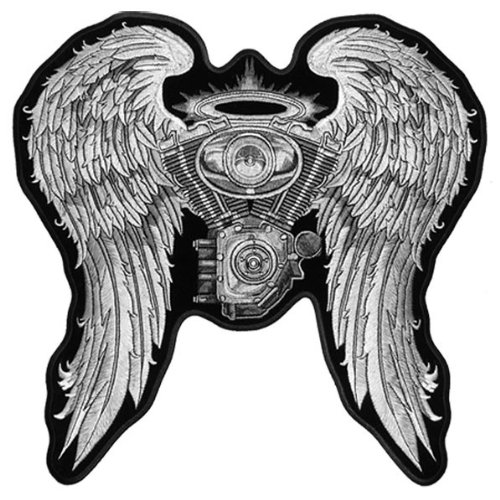 PPL9234 4 Width x 2 Height Hot Leathers Theres Motorcycles Patch