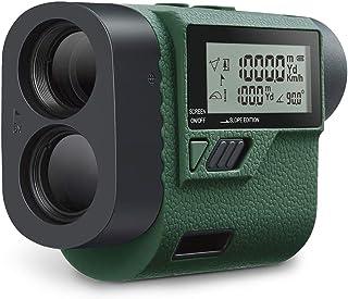 Huepar Golf Laser Rangefinder 1000 Yards 6X Laser Range Finder with Slope Adjustment- Golf Trajectory/Flag-Lock/Distance/Height/Speed/Angle Measurement, External LCD Screen for Golf, Hunting HLR1000