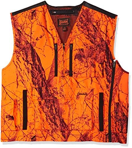 Mountain Pass Extreme Big Game Blaze Vest (Orange Camo, Small)