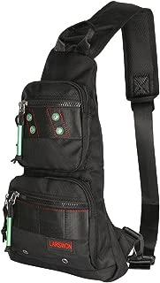 Sling Bag, Chest Pack, Larswon Sling Backpack, Shoulder Bag for Men, Small Bag Black
