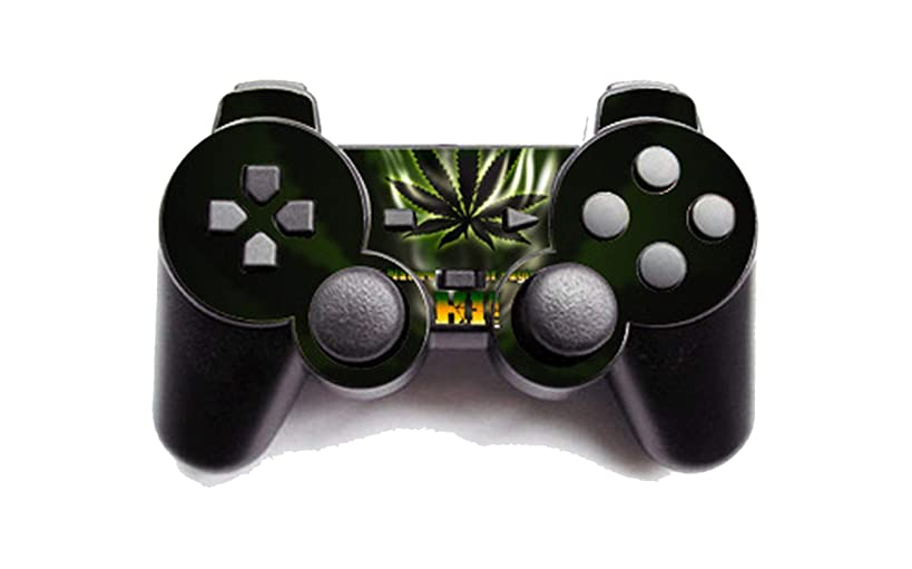 Green Weed Vinyl Skin Sticker Cover For PS2 Wireless Controller Skin For Playstation 2 Gamepad Decal Joystick Controle,6