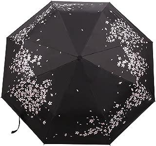 cherry blossom print folding umbrella