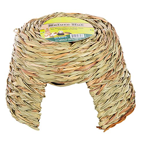 Ware Manufacturing Natural Willow and Grass Pet Hut for Small Pets, Large