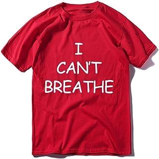 No Puedo Respirar Manga Corta No Puedo Respirar Camiseta Estampada con Letras Nueva Camiseta de Verano para Hombre Jersey